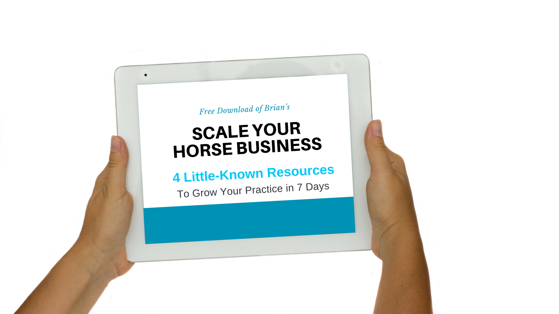 How to Scale Your Horse Business Transparent Hands